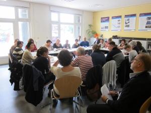 """Veranstaltung unserer Arbeitsgruppe Flucht+Menschenrechte,  in Kooperation mit dem Zentrum für Demokratie,  """" Fortbildung - Die Berliner Härtefallkommission"""" 27.August 2014"""