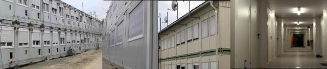 Ein neues Fluechtlingsheim wird 2 Tage vor Weihnachten im Allende II, Alfred-Rand Strasse aufgemacht. Leider sollen die Fluechtlinge in Containern untergebracht werden, obwohl viele Gebaeude in Treptow Koepenick leerstehen.
