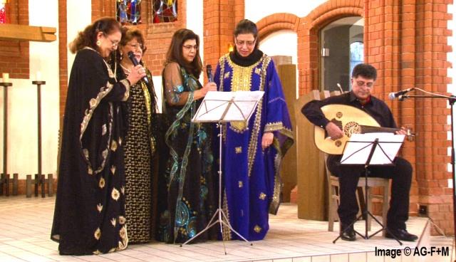AG-F+M INTERKULTURELLE VERANSTALTUNG in der St. Joseph Kirche 6 Dezember 2014 Oud: Taha Rahak, Chor: Choral Scheherazade