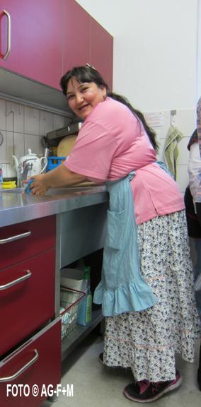 Kochlehrerin ueberzeugte nicht nur mit ihren Kochkuensten sondern auch durch ihr freundliches, sanftes Wesen.