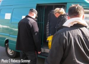 Abschiebung von Asylbewerbern in Treptow-Köpenick (Foto © AG F+M)