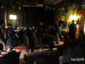 AG F+M 17.3.2015: Jugendliche Fluechtlinge planen ihre eigene Party im Haus der Jugend