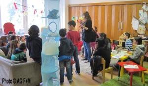 Fluechtlingskinder aus der Alfredt-Randt-Str besuchen Salvador Allende Haus