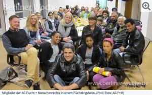 Die AG Flucht + Menschenrechte setzt sich für geflüchtete Menschen ein
